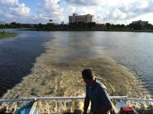 SePRO team capturing free reactive phosphorus with Phoslock at Pine Lake Florida
